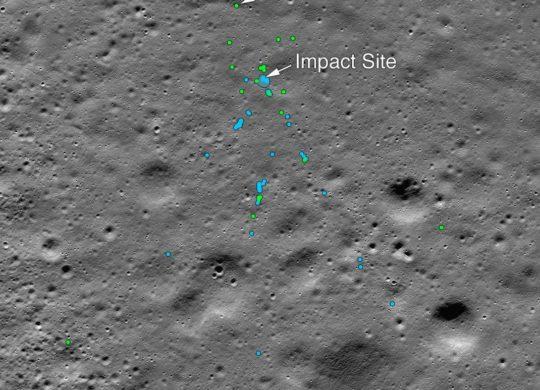 Vikram lune trace impact