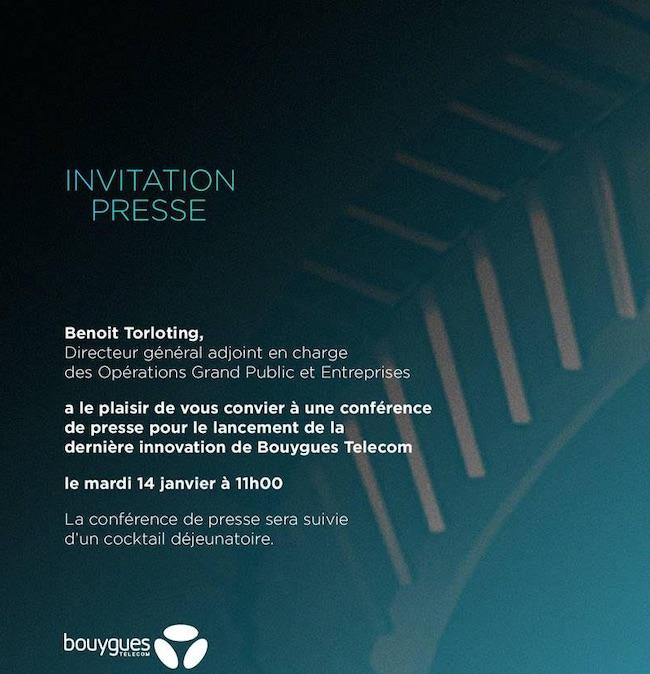 Bouygues Telecom Invitation Janvier 2020