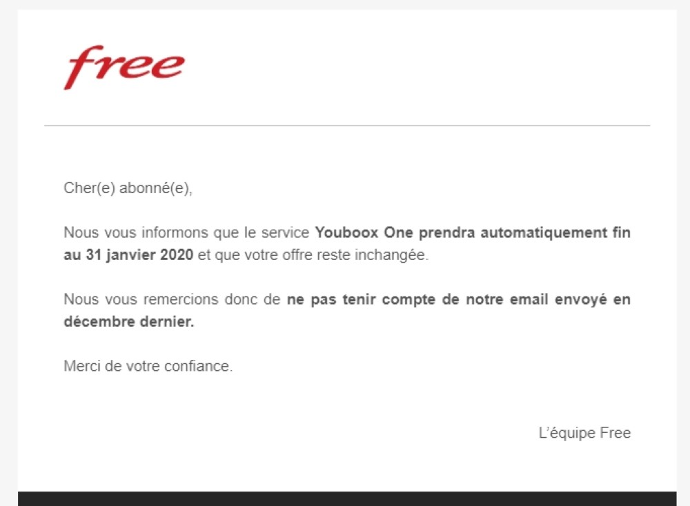 Free Mail Annulation Hausse Prix Youboox