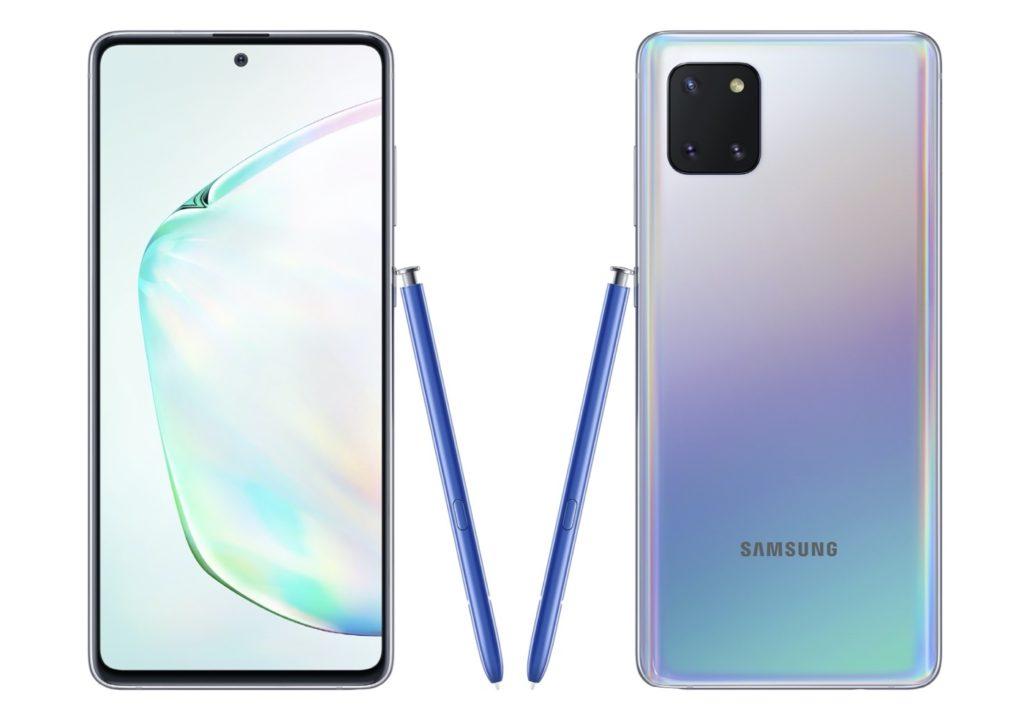 Galaxy Note 10 Lite Avant Arriere Officiel 1024x720