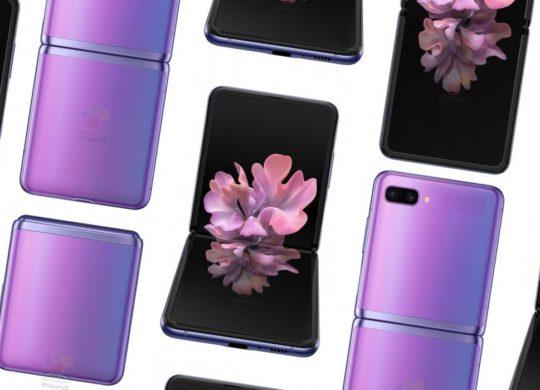 Galaxy Z Flip rendus 3D