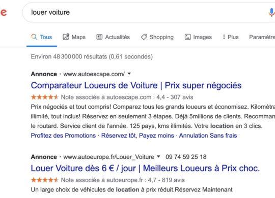 Google Recherche Publicite Simple Annonce