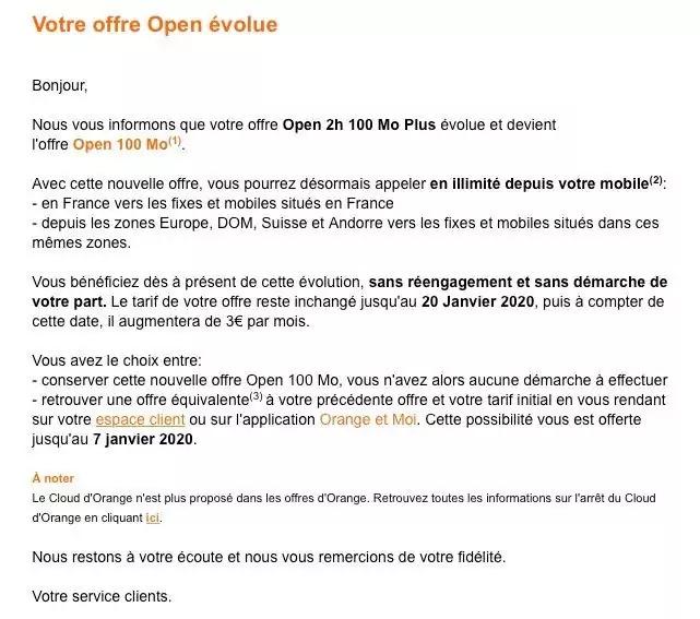 Hausse Prix Forfait Orange