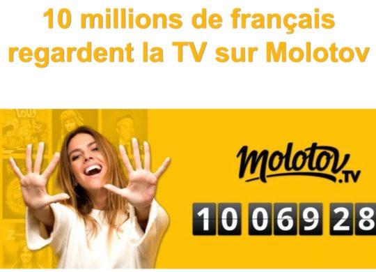 Molotov 10 Millions Utilisateurs