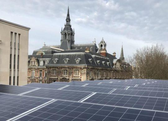 Panneaux solaires mediatheque Roubaix