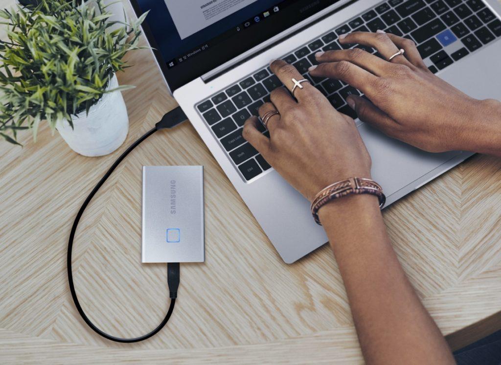 Samsung SSD T7 Touch Capteur Empreintes 2 1024x746