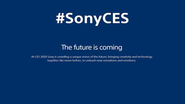 SonyCES 2020 600x337