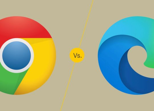 Chrome vs Microsoft Edge Logos