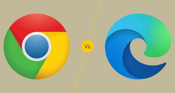 Chrome Vs Microsoft Edge Logos 600x321