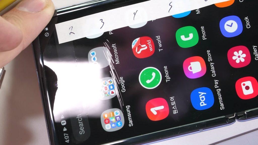 Galaxy Z Flip Ecran Rayure 1024x576