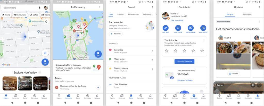 Google Maps 5 Onglets 1024x411