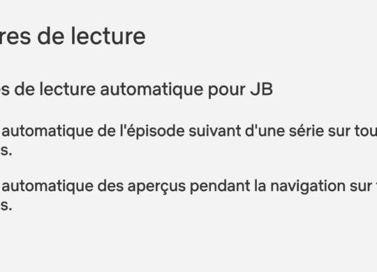 Netflix Option Desactiver Lecture Apercu