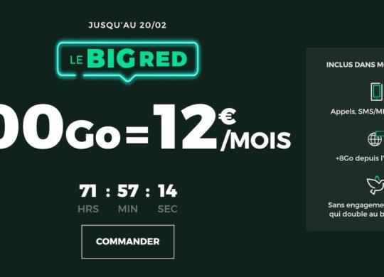Promo Forfait SFR RED 100 Go Fevrier 2020