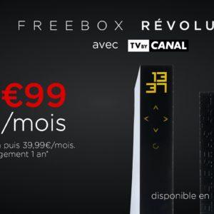 Image article [#Promo] La Freebox Révolution et TV by Canal à 9,99€/mois pendant 1 an