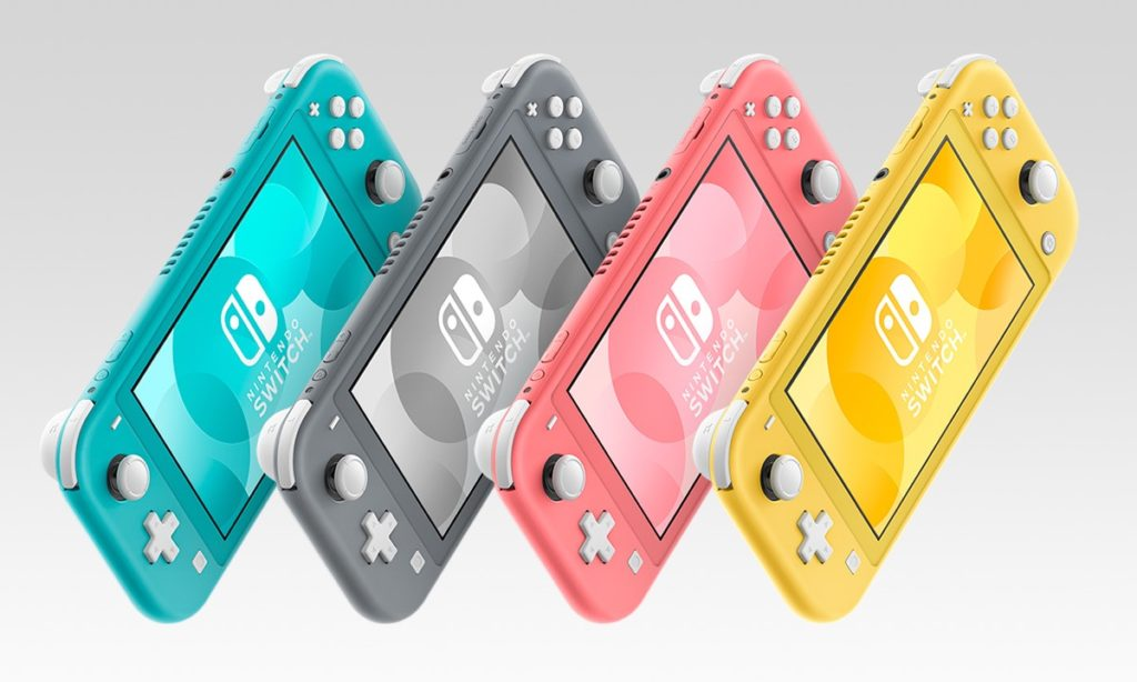 Switch Lite Coloris Turquoise Vs Gris Vs Corail Vs Jaune 1024x614