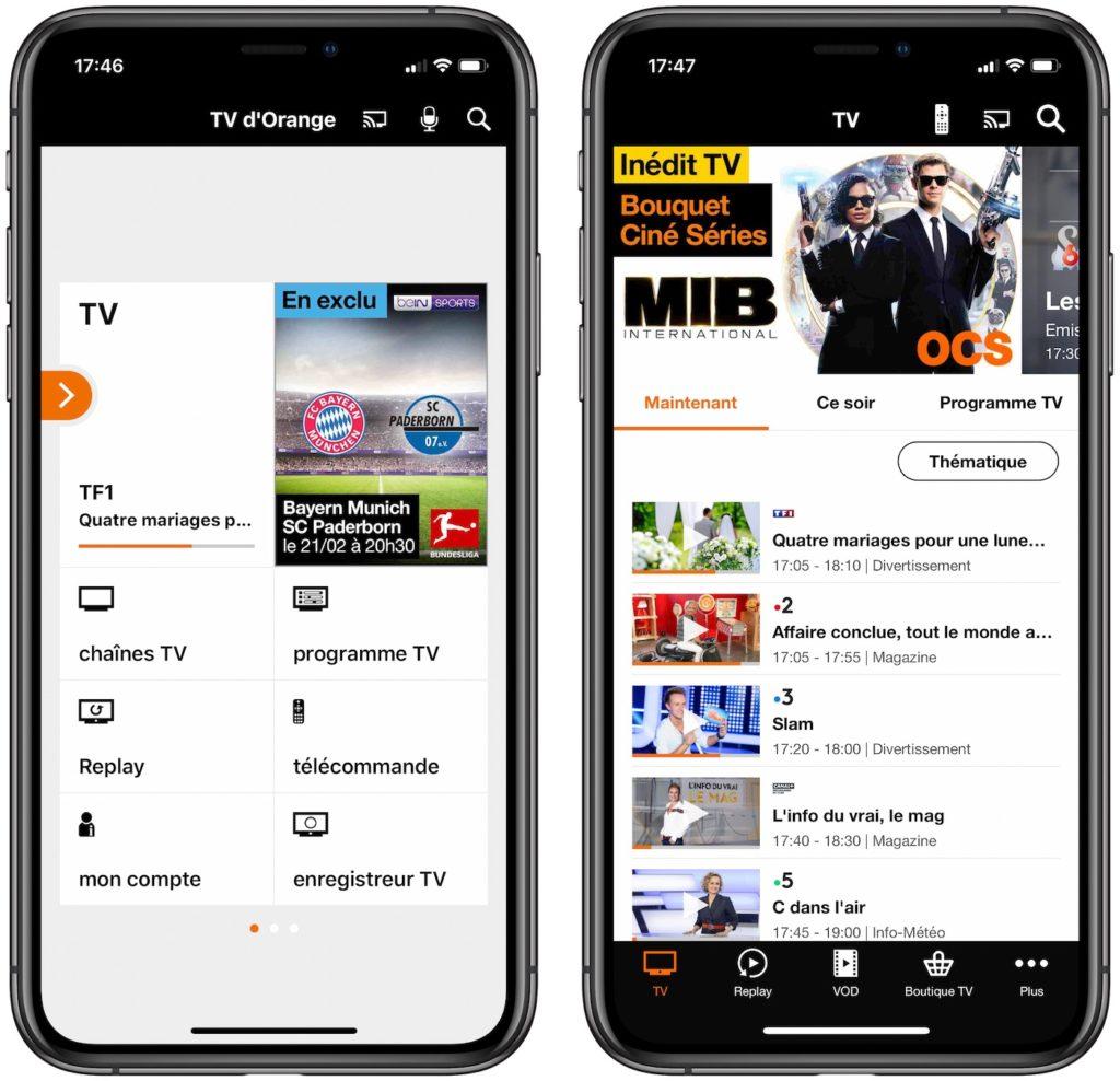 TV Orange Application IPhone Ancien Et Nouveau Design 1024x988