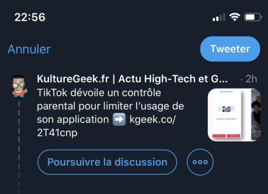 Twitter Poursuivre Conversation