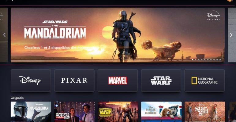 Disney Plus Interface Francaise