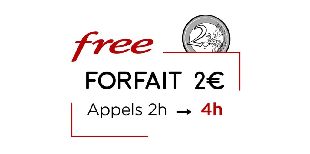 Free Mobile Forfait 2 Euros 4 Heures Appels 1024x508