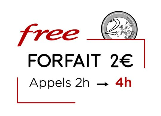 Free Mobile Forfait 2 Euros 4 Heures Appels
