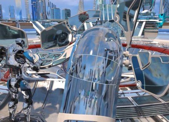 Futuristic city RT AMD