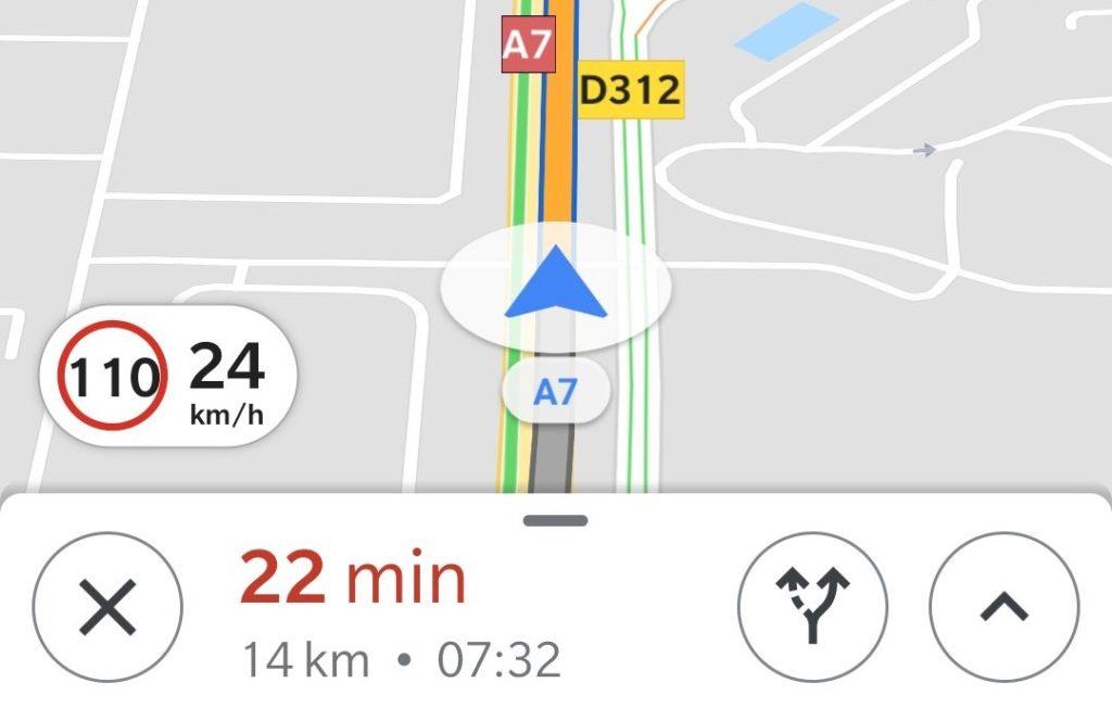 Google Maps Limite Vitesse France 1024x664