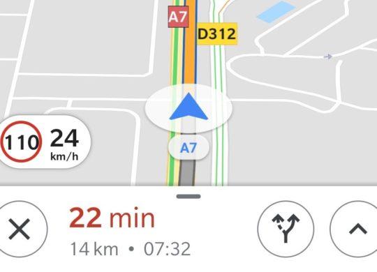 Google Maps Limite Vitesse France