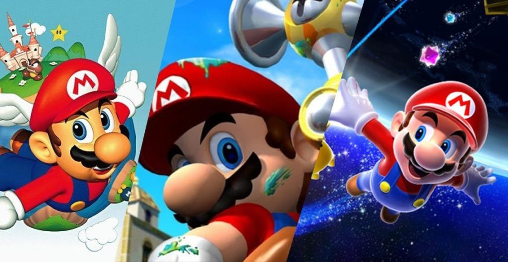 Mario 64 Vs Mario Sunshine Vs Mario Galaxy 1024x528