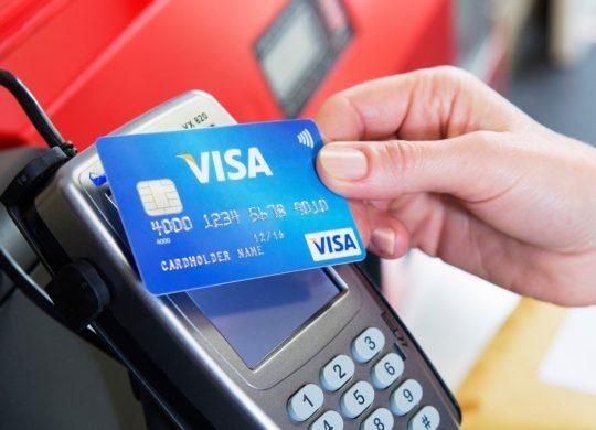 Carte Bancare Visa Paiement Sans Contact