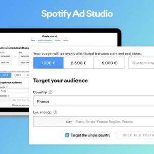 Image article Ad Studio : Spotify lance sa plateforme publicitaire en France
