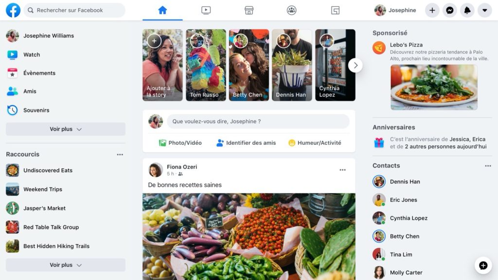 Facebook Nouvelle Interface 2020 Français 1024x576