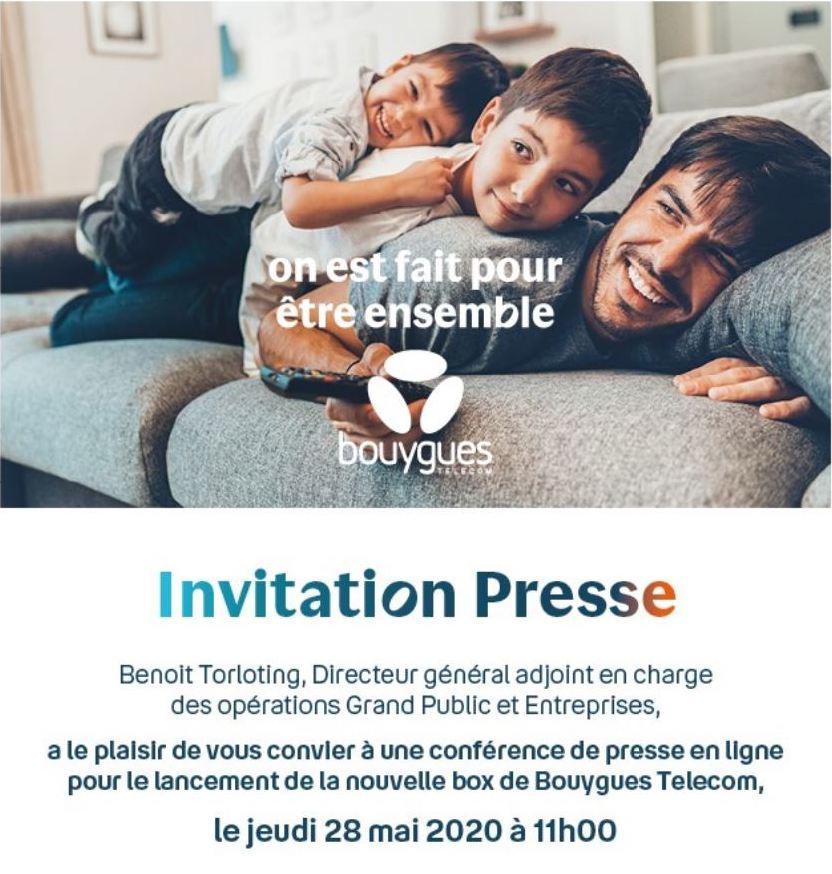 Invitation Bouygues 28 Mai 2020
