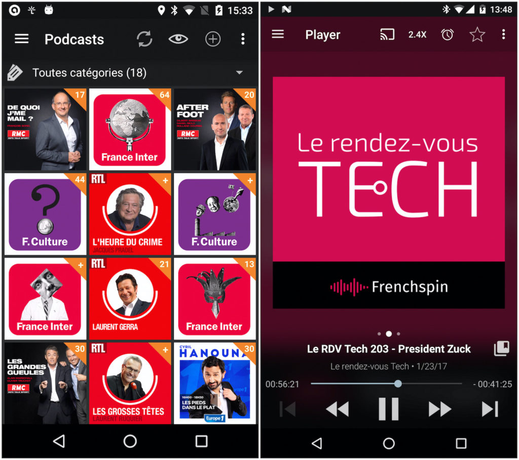 Podcast Addict Application Android 1024x908