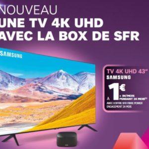 Image article SFR dévoile une offre combinant une box Internet et un téléviseur 4K
