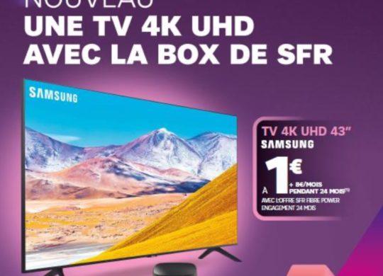 SFR Pack Box et Televiseur