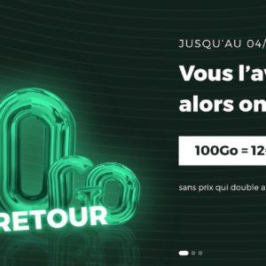 Image article [#Promo] SFR RED propose son forfait 100 Go à 12€/mois (à vie)