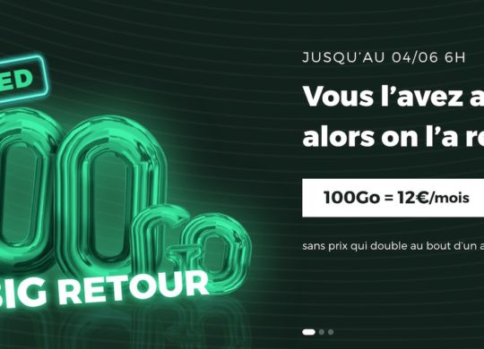 SFR RED Forfait 100 Go Promo Mai 2020
