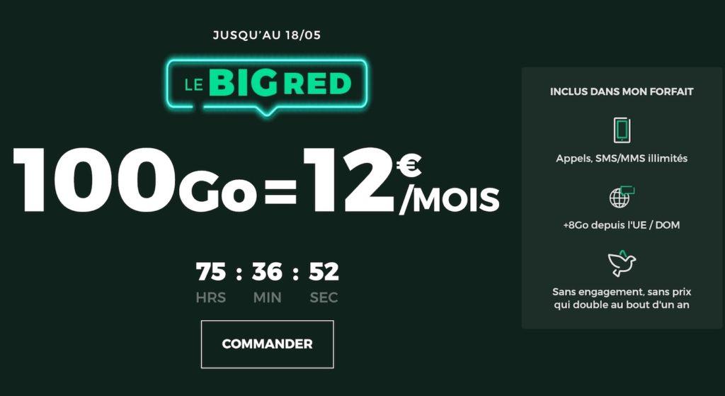 SFR RED Promo Forfait 100 Go Mai 2020 1024x559