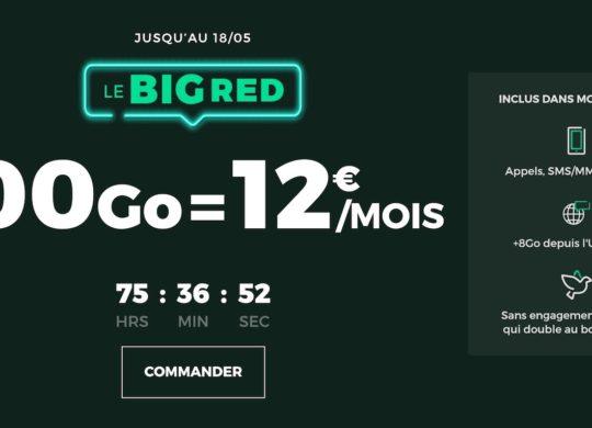 SFR RED Promo Forfait 100 Go Mai 2020