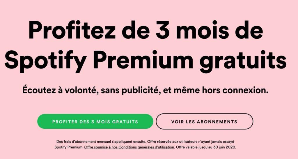 Spotify Premium Gratuit 3 Mois Mai 2020 1024x546