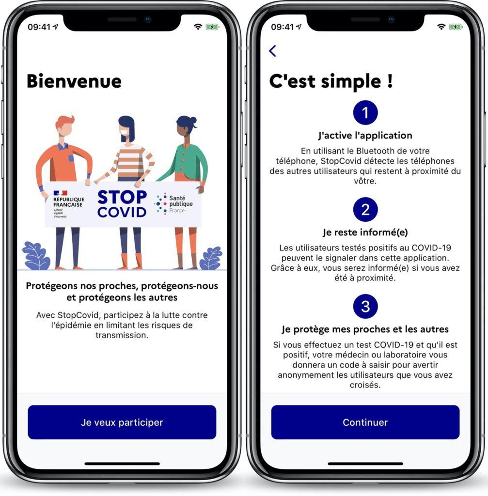 StopCovid Application IPhone 1007x1024