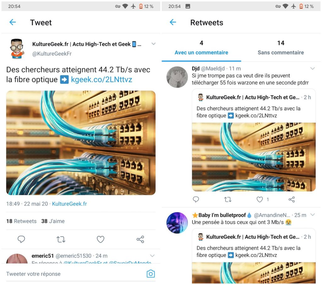 Twitter Android Retweets Avec Commentaires 1024x907