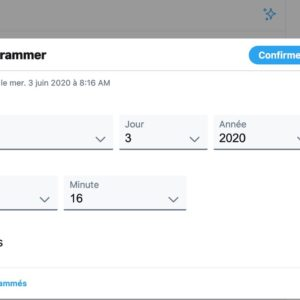 Image article Twitter : programmer un tweet est maintenant possible