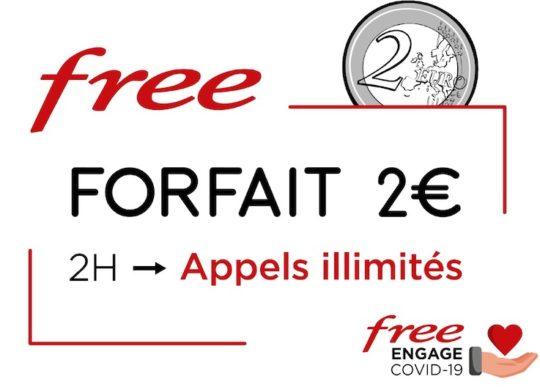 Free Mobile Forfait 2 Euros Appels Illimites