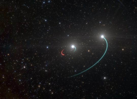 Artist's impression of the triple system with the closest blac