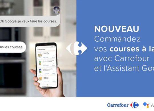 Carrefour Google Assistant Courses en Ligne