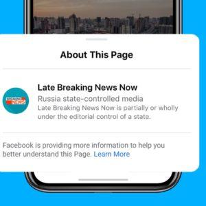 Image article Facebook va bloquer les pubs venant de médias contrôlés par des États