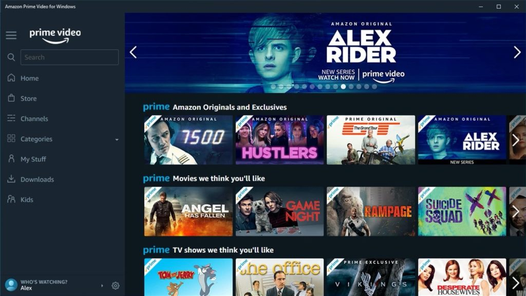 Fuite App Amazon Prime Video Windows UWP 1024x576