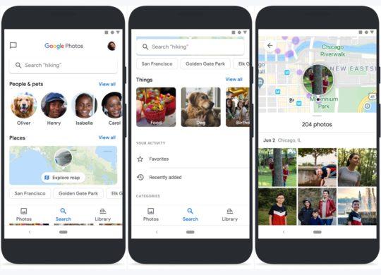 Google Photos Nouvelle Interface Recherche Juin 2020