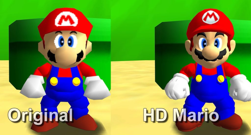 Mario 64 PC Ameliorations Graphismes 1024x549